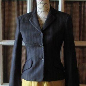 BCBGMaxAzria pinstripe tailored blazer xxs